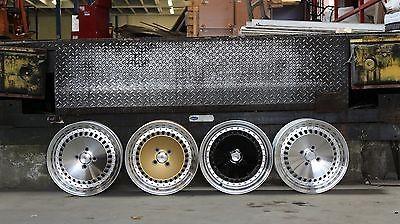 Stuttgart Wheels ST4 15x8 ET25 4x100 alu kola - černé s leštěným límcem