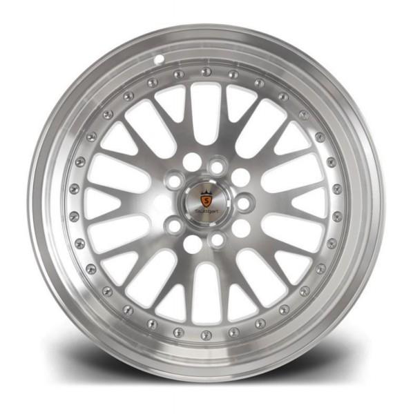 Stuttgart Wheels ST5 15x8 ET25 4x108 alu kola - stříbrné