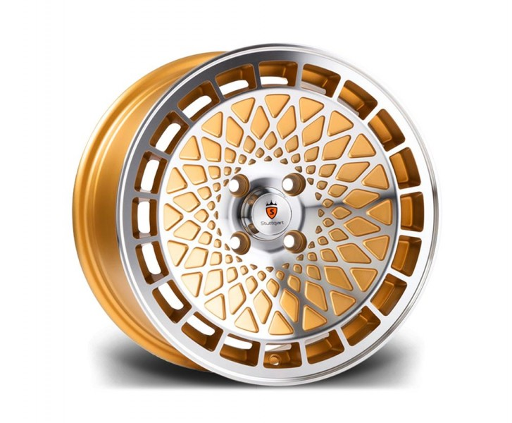 Stuttgart Wheels ST7 15x8 ET25 4x100 alu kola - zlaté