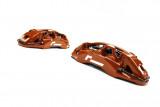Racingline Performance Brzdový kit s 6ti pístkovými kovanými monoblock třmeny a 355x32mm kotouči Škoda Octavia VW Golf GTI Clubsport R SEAT Leon Cupra AUDI S3 MQB - Červené