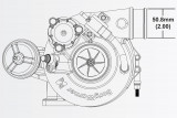 Turbodmychadlo BorgWarner EFR 6258 AL T25 SingleScroll 0.64 s WG