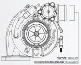 Turbodmychadlo BorgWarner EFR 8374 T3 SingleScroll 0.83 s WG