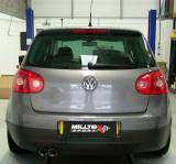 Catback výfuk VW Golf V 2,0 TDI Milltek Sport - bez rezonátoru / leštěné koncovky