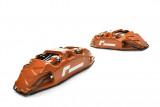 Racingline Performance Brzdový kit s 4-pístkovými monoblock třmeny a 345x32mm kotouči Škoda Octavia VW Golf GTI Clubsport R SEAT Leon Cupra AUDI S3 MQB - Červené