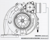 Turbodmychadlo BorgWarner EFR 7670 T4 TwinScroll 1.05 bez WG