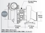 Turbodmychadlo BorgWarner EFR 8474 AL T3 SingleScroll 0.83 s WG