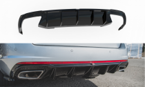 Maxton Design Spoiler zadního nárazníku Škoda Octavia III RS 2.0 TDI Liftback/Combi V.2 - texturovaný plast