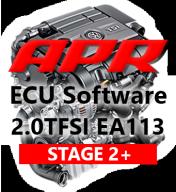 APR Stage 2+ úprava řídící jednotky chiptuning AUDI S3 8P 2,0 TFSI K04 - s APR Cast Downpipe