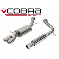 Cobra Sport Cat Back výfuk pro AUDI A1 1,4 TFSI - s rezonátorem, koncovka YTP4
