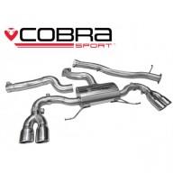 Cobra Sport Cat Back výfuk pro AUDI S1 - bez rezonátoru, koncovky YTP9