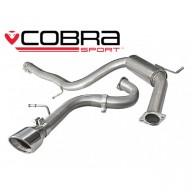 Cobra Sport Cat Back výfuk pro AUDI A3 (8P) 2.0 TDI Sportback - koncovka TP34