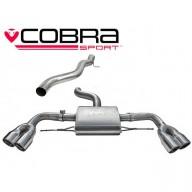 Cobra Sport Cat Back výfuk AUDI TTS (8J) Quattro Coupé - bez rezonátoru, koncovky YTP9-BLK