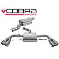 Cobra Sport Cat Back výfuk AUDI TTS (8J) Quattro Coupé - s rezonátorem, koncovky YTP9-BLK