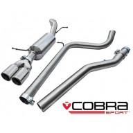 Cobra Sport Cat Back výfuk pro ŠKODA Fabia (5J) VRS - bez rezonátoru, koncovky TP67