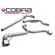 Cobra Sport Turbo Back výfuk VW Golf (5K) GTI  - se sportovním katalyzátorem, koncovka TP34