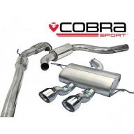 Cobra Sport Turbo Back výfuk SEAT Leon Cupra R (1P) 2.0 TSI - se sportovním katalyzátorem, s rezonátorem, koncovka TP34