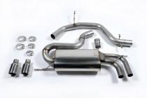 Catback výfuk VW Golf V GTI 2.0 TFSI Milltek Sport - bez rezonátoru / černé koncovky