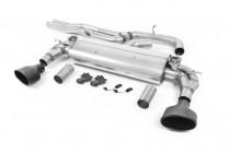 Klapkový Catback výfuk AUDI RS3 8V Sedan 2,5 TFSI Milltek Sport - bez rezonátoru / černé koncovky