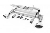Klapkový Catback výfuk AUDI RS3 8V Sedan 2,5 TFSI Milltek Sport - s rezonátorem / leštěné koncovky