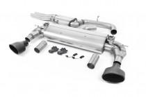 Klapkový Catback výfuk AUDI RS3 8V Sedan 2,5 TFSI Milltek Sport - s rezonátorem / černé koncovky