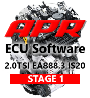 APR Stage 1 316hp 516Nm chiptuning AUDI A3 8V TT 8S 2,0 TSI
