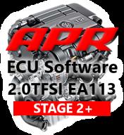 APR Stage 2 úprava řídící jednotky chiptuning VW Golf GTI Jetta Passat 2,0 TFSI BWA AXX - S APR 1. dílem výfuku