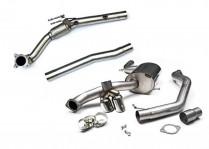 Turboback výfuk VW Jetta mk6 2.0 TSI Milltek Sport - bez katalyzátoru / s rezonátorem / leštěné koncovky