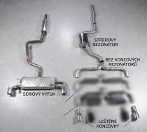 Catback výfuk VW Scirocco R 2.0 TFSI Milltek Sport - bez rezonátoru / leštěné kulaté koncovky