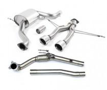 Turboback výfuk SEAT Leon Cupra R 2,0 TFSI 195kW K04 Milltek Sport - bez katalyzátoru / s rezonátorem / leštěné koncovky