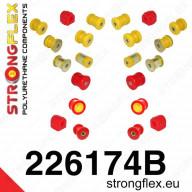 Kompletní set PUR silentbloků Strongflex Škoda Octavia II RS 1Z 2,0 TFSI TDI