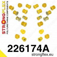 Kompletní set PUR silentbloků SPORT Strongflex Škoda Octavia II RS 1Z 2,0 TFSI TDI