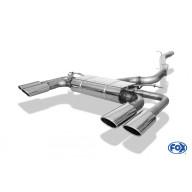 Catback výfuk SEAT Ateca Cupra 2,0 TSI 221W GPF OPF Fox Exhaust - Oválné koncovky