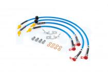 Forge Motorsport Pletené brzdové hadice pro Hyundai i30N - modré průhledné