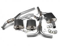 Catback výfuk AUDI A5 Sportback 2.0 TFSI (Manuál) Milltek Sport - s rezonátorem / leštěné koncovky Dual