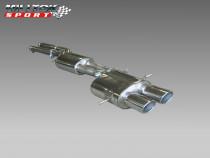 Catback výfuk AUDI RS4 B5 Avant 2.7T Milltek Sport - s rezonátorem / leštěné koncovky