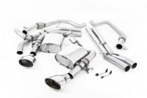 Klapkový catback výfuk ROAD+ AUDI RS4 B9 Avant 2.9 TFSI V6 Milltek Sport - s rezonátorem / leštěné koncovky