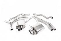 Klapkový catback výfuk ROAD+ AUDI RS5 B9 Coupé 2.9 TFSI V6 Milltek Sport - s rezonátorem / leštěné koncovky