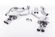 Klapkový catback výfuk AUDI S4 a S5 Sportback B9 3.0 TFSI V6 Milltek Sport - bez rezonátoru / kulaté leštěné koncovky GT90