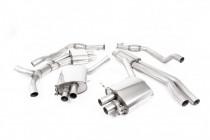 Klapkový catback výfuk ROAD+ AUDI RS4 B9 Avant 2.9 TFSI V6 OPF/GPF Milltek Sport - s rezonátorem / leštěné koncovky