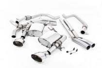 Klapkový catback výfuk AUDI RS5 B9 Sportback 2.9 TFSI V6 Milltek Sport - bez rezonátoru / leštěné koncovky