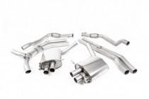 Klapkový catback výfuk AUDI RS5 B9 Sportback 2.9 TFSI V6 OPF/GPF Milltek Sport - bez rezonátoru / leštěné koncovky