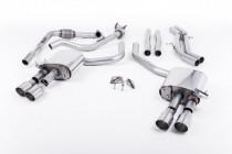 Klapkový catback výfuk AUDI S4 a S5 Sportback B9 3.0 TFSI V6 (Sport Diff) Milltek Sport - bez rezonátoru / kulaté leštěné koncovky GT100