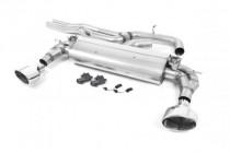 Klapkový catback výfuk AUDI TT RS 8S 2.5 TFSI Milltek Sport - bez rezonátoru / oválné leštěné koncovky