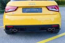 Maxton Design Prostřední nástavec zadního nárazníku Audi S1 8X - texturovaný plast