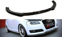Maxton Design Spoiler předního nárazníku Audi A3 8P Facelift - texturovaný plast