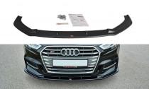 Maxton Design Spoiler předního nárazníku Audi A3 S-Line/S3 8V Facelift V.1 - texturovaný plast