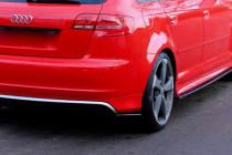 Maxton Design Boční lišty zadního nárazníku Audi RS3 8P - texturovaný plast