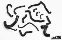 Do88 set silikonových hadic chladícího okruhu AUDI S4 A6 2,7T biturbo AGB AJK AZA ARE BES - Černé