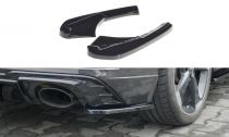 Maxton Design Boční lišty zadního nárazníku Audi RS3 8V Sportback Facelift- texturovaný plast