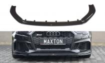 Maxton Design Spoiler předního nárazníku Audi RS3 8V Sportback Facelift V.2 - texturovaný plast